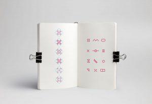 Skizzenbuch für Aufbau der Bildungsakademie Logos