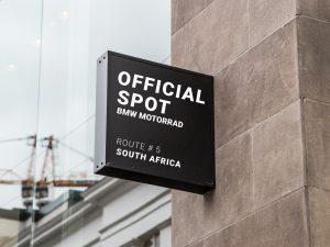 Nasenschild Official spot BMW Motorrad Route Südafrika