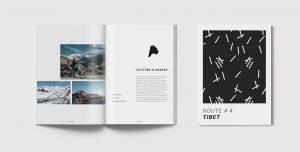Broschüre zur Route Tibet mit Stimmungsbildern