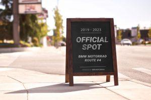 BMW Motorrad Kundenstopper official spot