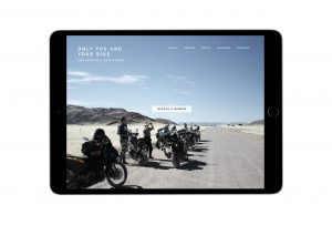 Mockup iPad mit Startseite BMW Motorrad Event