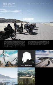 Mockup Website BMW Motorrad Routenführer