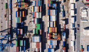 Holiship Containerhafen von oben