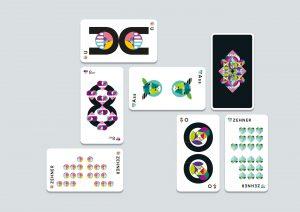 Anordnung von verschiedenen Spielkarten