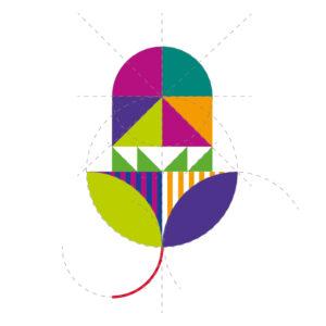 Detailansicht grafische Konzeption Blatt Eichel